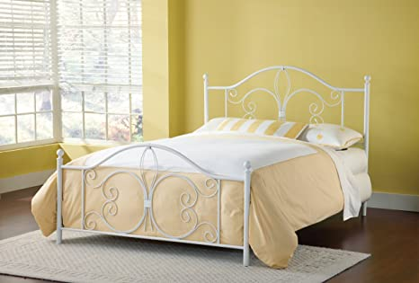Hillsdale Furniture 1687BQR Ruby Bed Set with Rails, Queen, Textured White