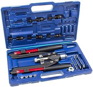 Nietzange + Nietmutternzange im Set für Nieten bis 6,4mm und Nietmuttern von M4M10  BaumarktBewertungen und Beschreibung