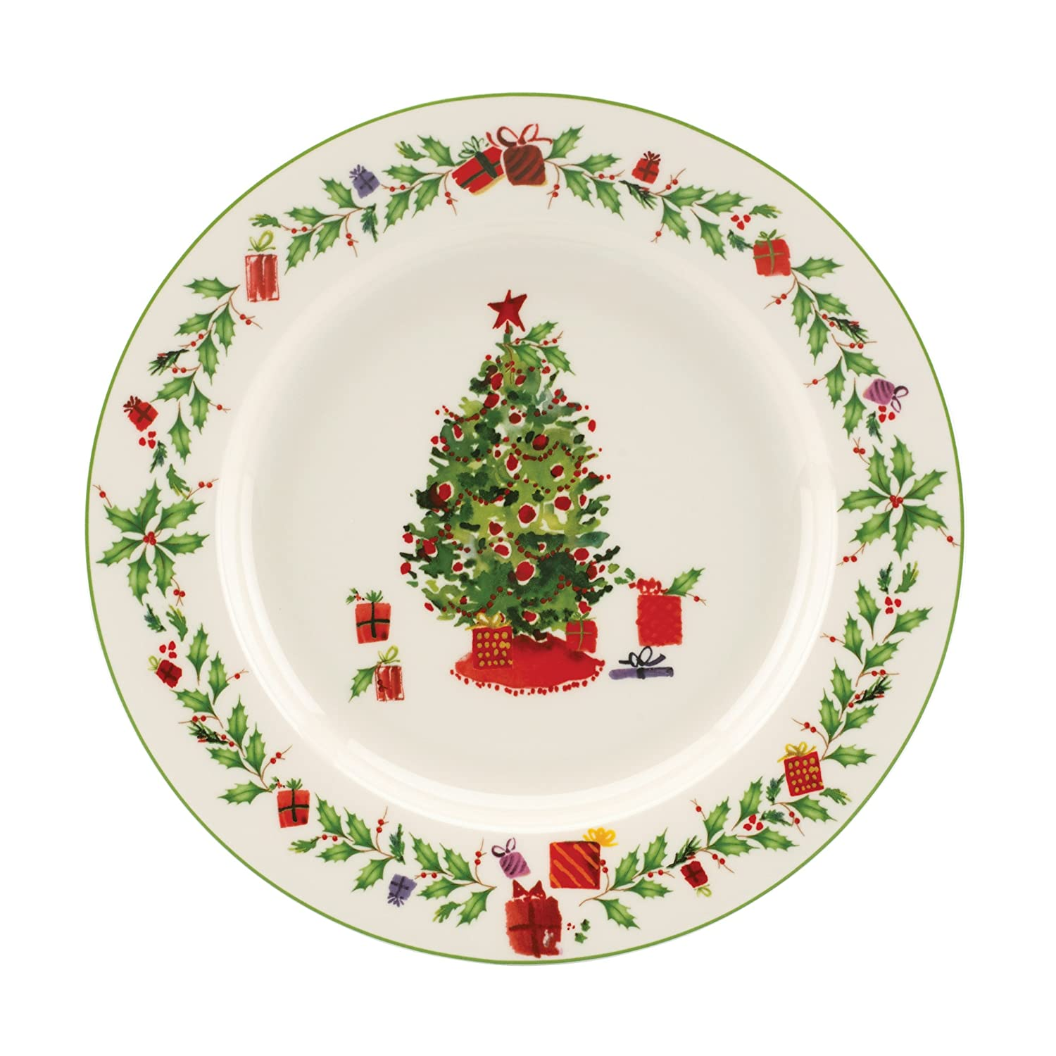 Lenox Holiday Inspirations Christmas Tree Salad Plate 9 D Crafted