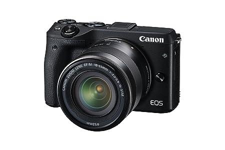 Canon EOS M3 Mirrorless Caméra caméra 24 mégapixels avec EF-M 18-55 mm, avec Vue Finder et viseur électronique EVF-DC1, Noir