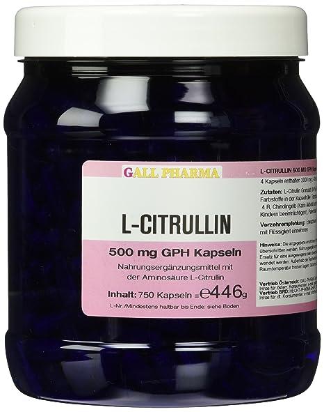 Gall Pharma L-Citrullin 500 mg GPH Kapseln 750 Stuck