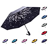 Fidus Reverse/Inverted Automatic Windproof Folding Travel Umbrella - Compact Lightweight Portable Outdoor UV Protection Golf Umbrella For Women Men Kids-pink peach (Color: B2-Pink Peach)