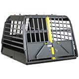 4x4 North America Variocage Double Crash Tested Dog Cage, XX-Large (Color: Gray/ Black, Tamaño: XX-Large)