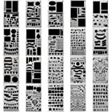 20 pcs Bullet Journal Stencil, Taotree DIY Drawing Template Patterns Set for Planner/Leuchtturm & Moleskine A5 Notebooks/Scrapbook Craft Project - Best Used with Fine Point Pens