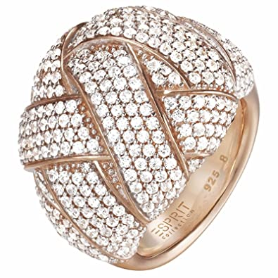 Ladies-Ring 925 Sterling Silver Zirconia Lilaia Esprit ELRG92291B