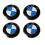LHFACC Wheel Center Hub Cap Cover Emblem Badge Sets of 4 for E36 E38 E39 E46 E53 E60 E61 E63 E64 E65 E66 E70 E71 E72 E82 E83 E85 E86 E88 E89 E90 E91 E92 E93 F01 F02 F07 (Tamaño: black+blue)