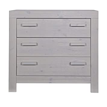 Alfred & Company Concrete Grey Frame Pine 3Drawer Chest