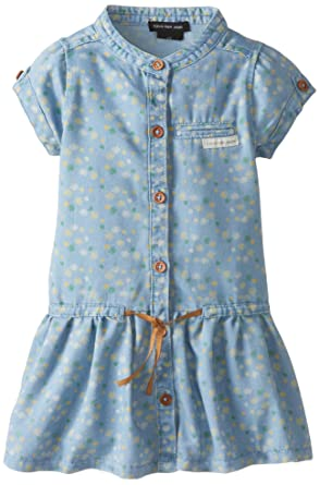 Calvin Klein Little Girls' Blue Denim Dress with