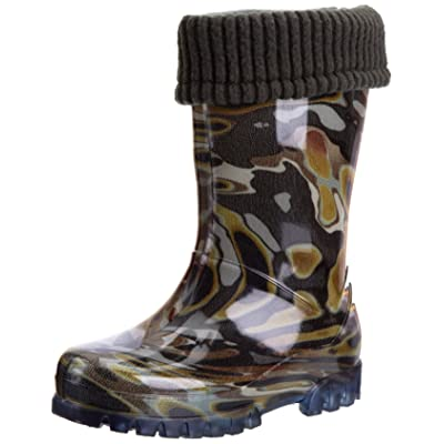 Toughees Shoes Kids Camo Fleece-lined Wellington Boot