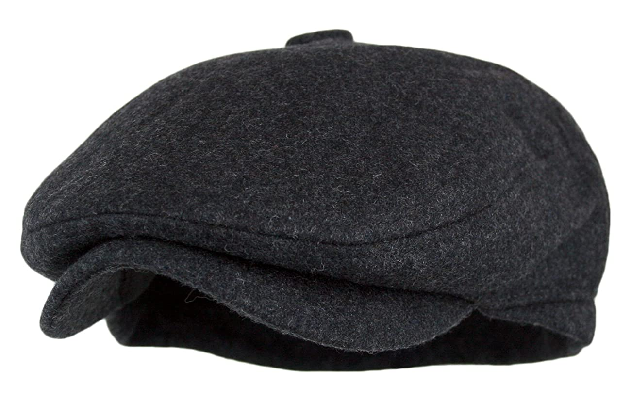 Men's 5 Panel Vintage Style Wool Blend Gatsby Ivy Newsboy Hat 0