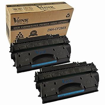 2 Pack V4INK reg HP CF280X Compatible Toner Cartridgee