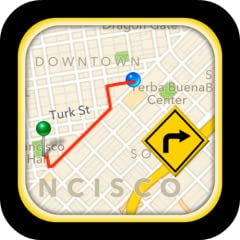 GPS Driving Route for Kindle Fire