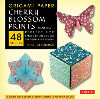 "Origami Paper - Cherry Blossom Patterns - Small - 6 3/4"" - 48 Sheets: Perfect for Small Projects or the Beginning Folder"