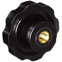"DimcoGray Black Phenolic Fluted Torque Knob Female, Brass Insert: 3/8-16"" Thread x 5/8"" Depth, 2-3/8"" Diameter x 1-9/32"" Height x 1-1/4"" Hub Dia x 5/8' Hub Length  (Pack of 10)"