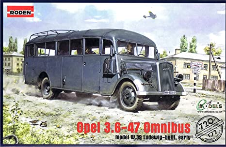 Roden 720 Opel Blitz 3.6-47 Type W39 Bus Ludewig (Essen) 1:72 Plastic Kit Maquette