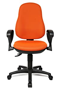 Topstar 8170SBC4E Point 70 Comfortable Home and Office Intervertebral Discs Swivel Chair   Orange       Office Productsreviews