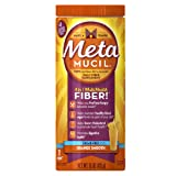 Metamucil Daily Fiber Supplement, 100% Natural Psyllium Husk, Orange Smooth Sugar Free Fiber Powder, 72 Doses (Tamaño: 72 doses)