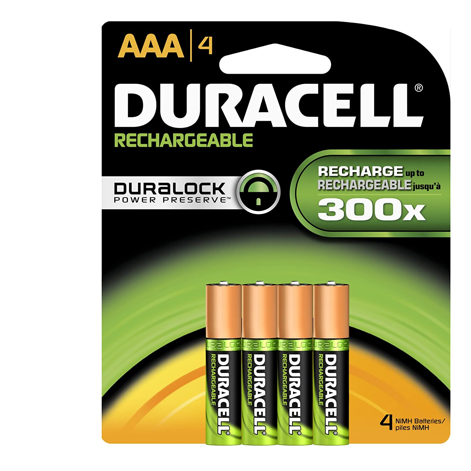 Duracell Rechargeable Aaa Batteries 4 Count (Pack of 2) $9.99