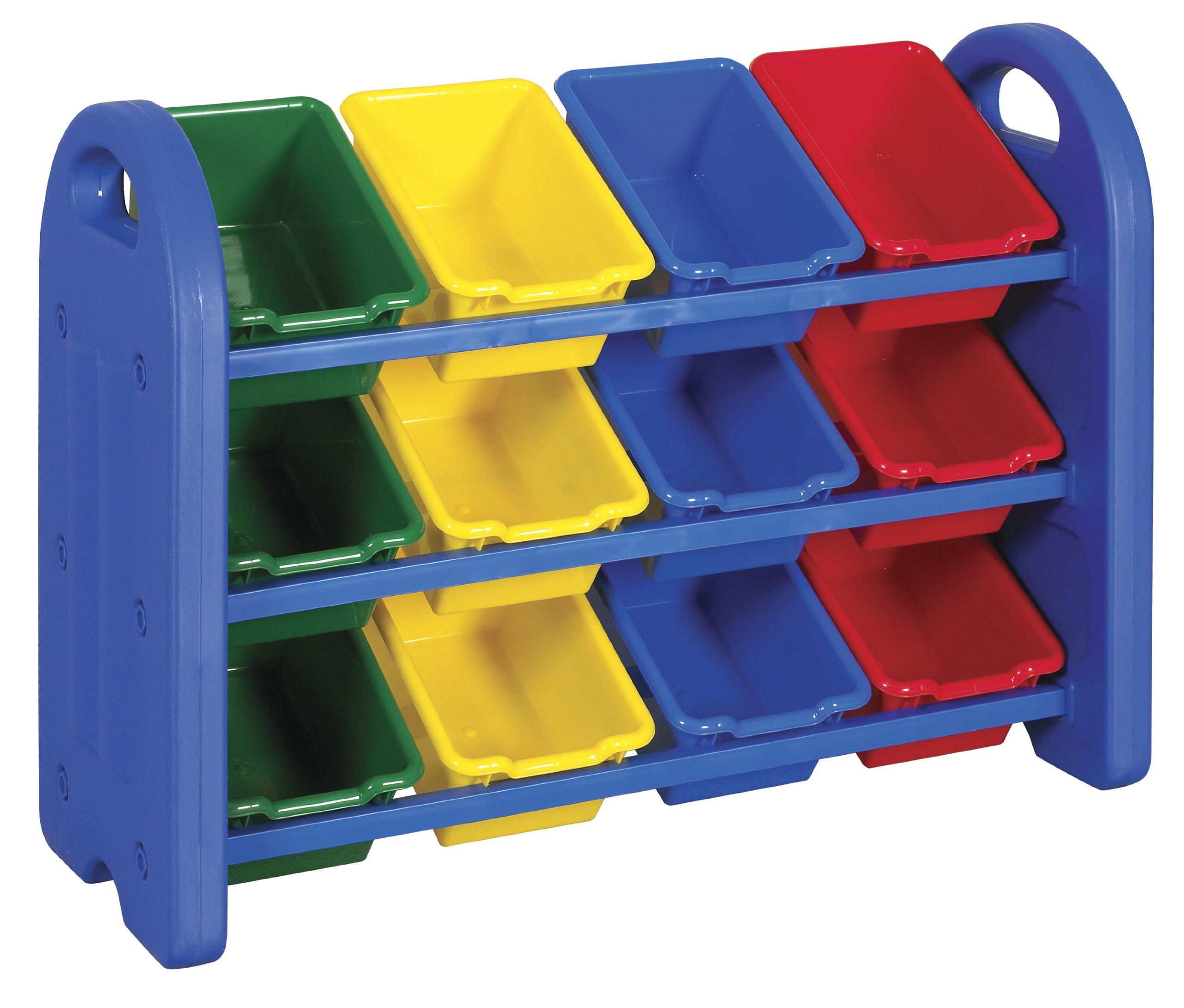 ECR4Kids 3 Tier Toy Storage Organizer With 12 Bins