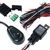 Arnés de cableado LED de luces de carretera DT MOTO™  40 amperios en relay e interuptor de encendido y apagado