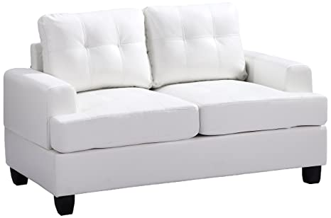 Glory Furniture G587A-L Living Room Love Seat, White