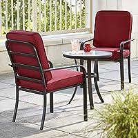 Essential Garden Bisbee 3 Piece Bistro Set (Red)