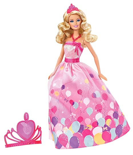Toys and games for girls:  Barbie Birthday Princess Doll Gift Set