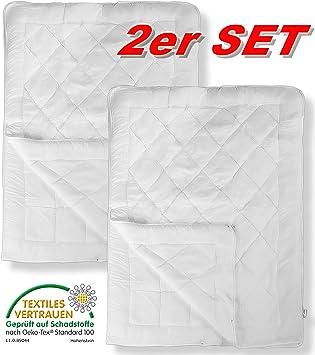 aqua textil 10957 deckenset 2 x 4 jahreszeiten bettdecke 155x220 steppbett microfaser soft touch. Black Bedroom Furniture Sets. Home Design Ideas