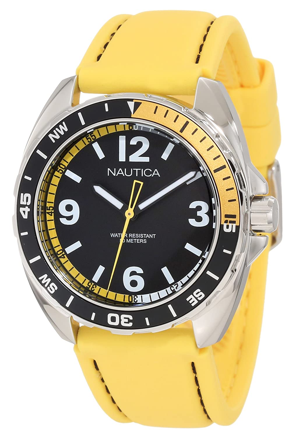 Nautica Men's N09923G Sport Classic Analog Enamel Bezel Watch Set