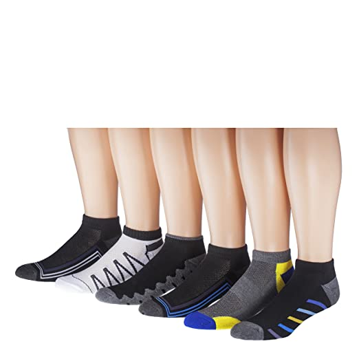 James Fiallo Mens 12-pack Low Cut Athletic Socks, Size 10-13 Fits shoe 6-12, 2885-12