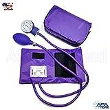 Manual Blood Pressure Monitor BP Cuff Gauge Aneroid Sphygmomanometer Machine Kit (Purple) (Color: Purple)