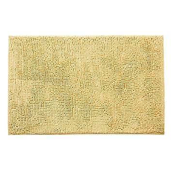 Tatkraft tapis de bain bain chenille sable 50x80 cm - Salle de bain couleur sable ...
