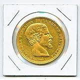 Gold 1869 R Guatemala 20 Peso President Rafael Carrera y Turcios - Rare Coin - KM#-194