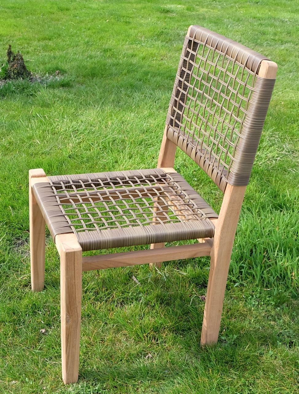 TEAK Design Rattan Sessel Gartensessel Gartenstuhl Sessel Holzsessel Gartenmöbel Holz geölt sehr robust Modell: RIO von AS-S günstig