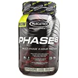 MuscleTech Phase 8 Protein Powder, Multi-Phase 8-Hour Protein Formula, Cookies and Cream, 2.0 lbs (907g) (Tamaño: 2 Pound)
