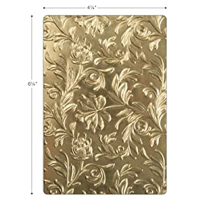 Sizzix Embossing Folder 662716, Botanical by Tim Holtz, Multi Color, One Size, (Color: Multi Color)