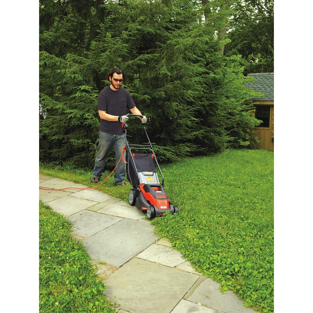 Black & Decker EM1500 15-Inch Corded Mower with Edge Max, 10 Amp
