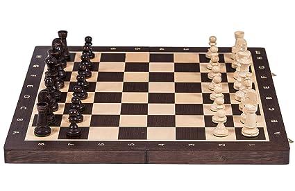 Jeu d'echecs professionnel No 6 - WENGE - Échiquier & Pièces d'échecs Staunton 6