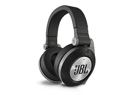 JBL E50 BT Casque Audio Stéréo Sans Fil Bluetooth Rechargeable avec PureBass Performance Compatible avec Appareils Apple iOS et Android - Noir
