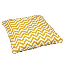 Outdoor 28-Inch Large Chevron Yellow Pillow