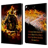 Official Jason Bullard Fireman 2 Firefighter Leather Book Wallet Case Cover For Apple iPad Pro 12.9 (2017) (Color: Fireman 2)