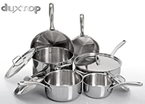 Duxtop Whole-Clad Tri-Ply Stainless Steel 10-Pc Set