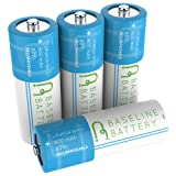 4 Baseline Battery 800 mAh IFR 18500 3.2v LiFePO4 Lithium Phosphate Rechargeable Batteries Solar Garden Light