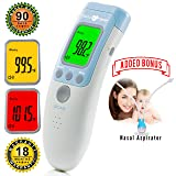 No Touch Clinical Digital Medical Forehead Baby Thermometer| Termometro | for Fever by AccuTemp - The Best Professional Proven Electronic FDA Approved Children to Adult Quick Read Doctor Thermometer
