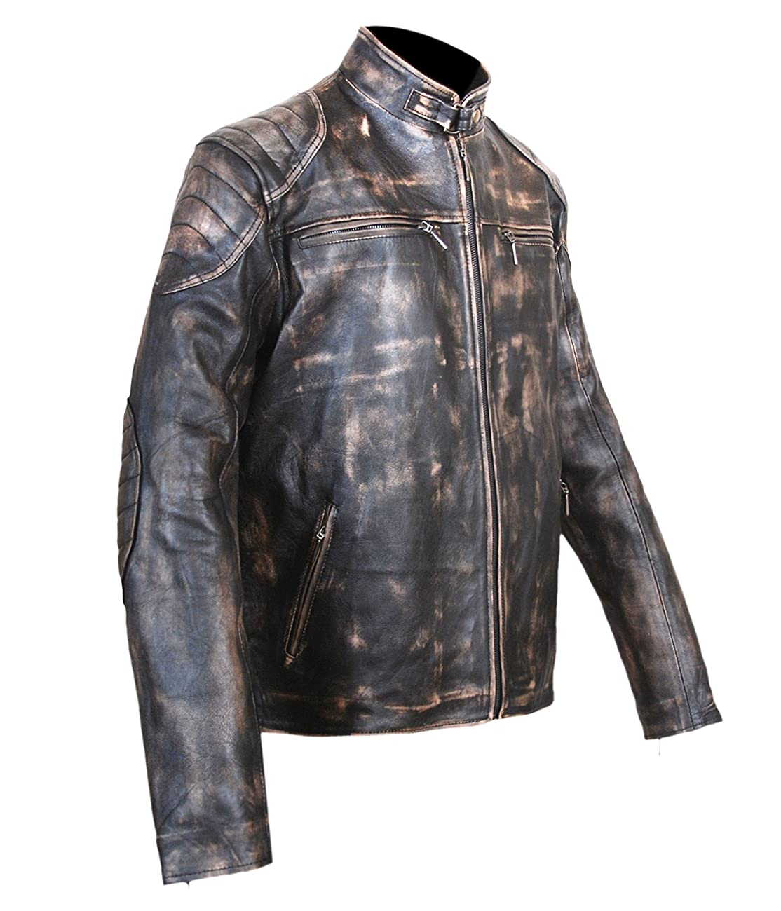 Antique Black Men's Vintage Distressed Retro Motorcycle Biker Leather jacket - TOP SELLER 2