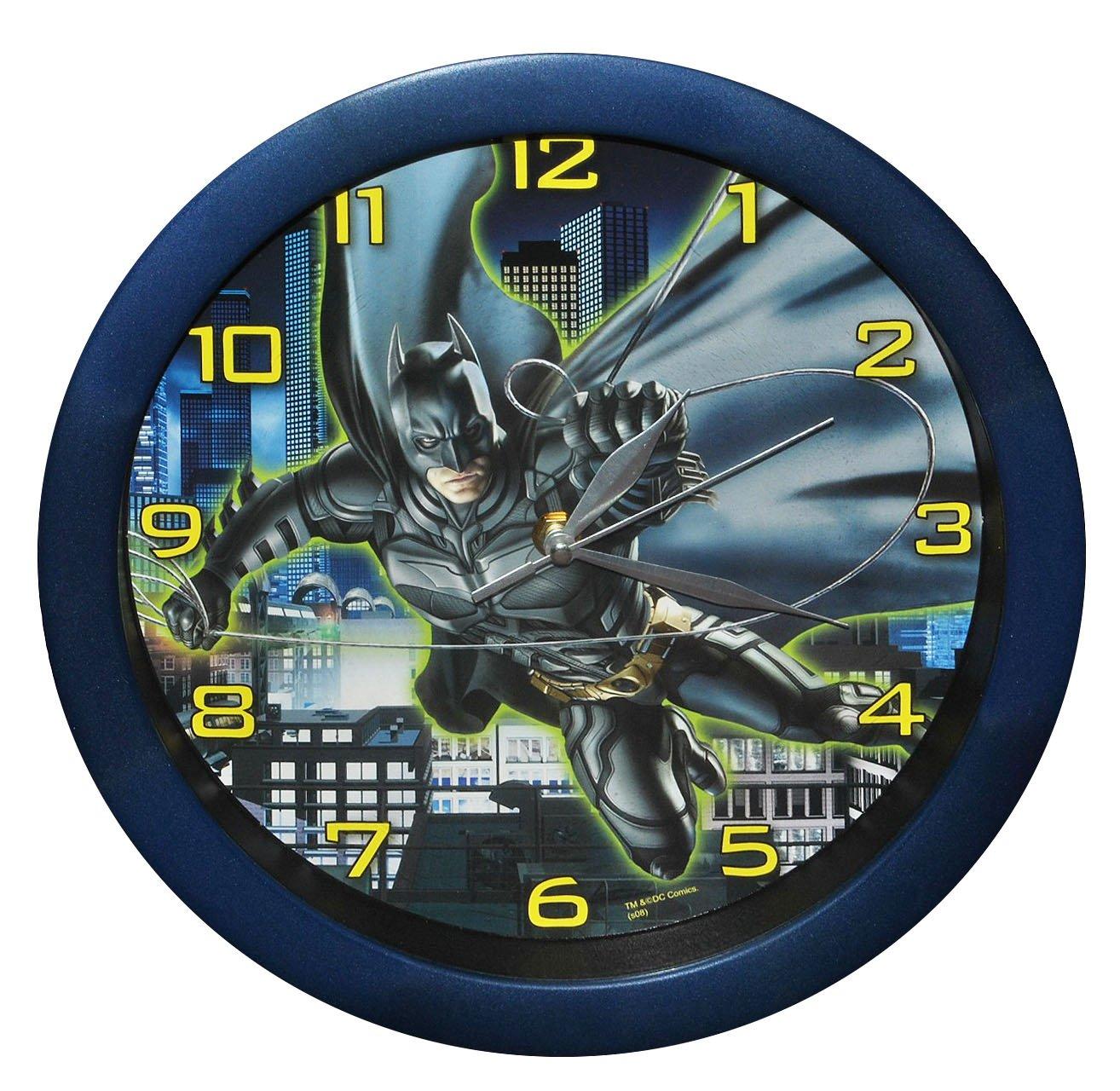 """Wanduhr Batman """" The Dark Knight """" – 29 cm groß Uhr – für Kinderzimmer Kinderuhr – Analog Jungen Bruce Wayne Fledermaus Mann Comic Held Aktion bestellen"""