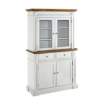 Home Styles Model  5002-697  and Hutch White and Oak Finish Americana Buffet