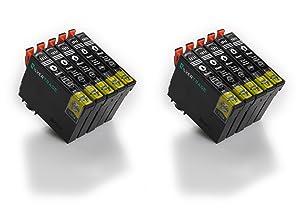 10x Compatible tinta cartuchos reemplazo EPSON T1811BK negro (18XL) for Epson Expression Home X-30/ X-102/ X-202/ X-205/ X-302/ X-305/ X-402/ X-405  Electrónica revisión y más información