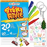 Kool Krafts Shrinky Art Crafts Set - 20 Clear, Glossy Sheets (8