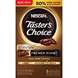 Nescafe Taster's Choice Instant Coffee, French Roast, 0.52 Oz  (Pack of 12) (Tamaño: Pack of 12)